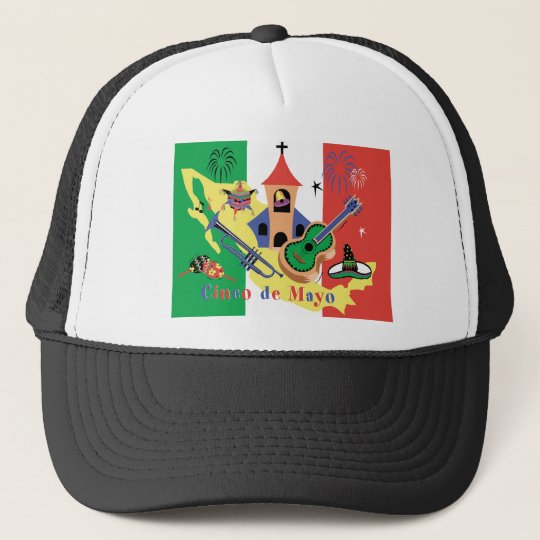 Happy Cinco de Mayo Ladies Trucker Hat