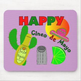 Happy Cinco de Mayo Lime Tequila Salt Design Mouse Pad