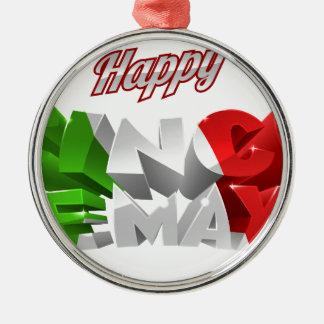 Happy Cinco De Mayo Silver-Colored Round Decoration