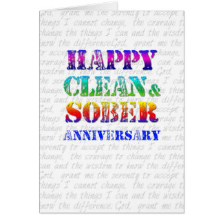 Happy Clean Sober Anniversary Greeting Card