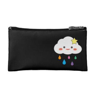 Happy Cloud & Rainbow Droplets Makeup Bag