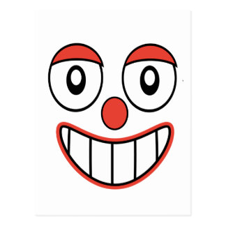 Happy Clown Cartoon Drawing Postcard