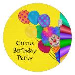 Happy Clown Circus Birthday Party Invites