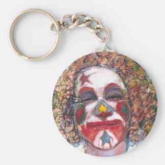 "Happy Clown ""Dubie Hummingbyrd"" Basic Round Button Key Ring"