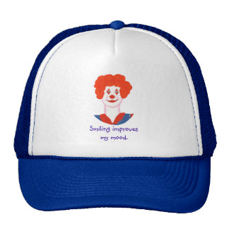 Happy Clown Face, Smiling improves my mood Trucker Hats