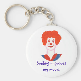 Happy Clown Face, Smiling improves my mood Key Chains