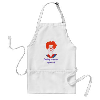 Happy Clown Face, Smiling improves my mood Standard Apron