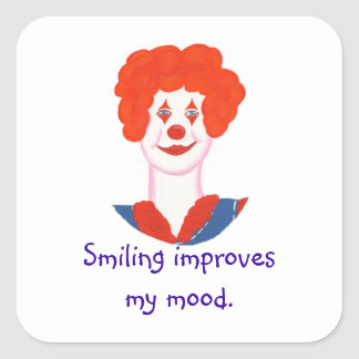 Happy Clown Face, Smiling improves my mood Stickers
