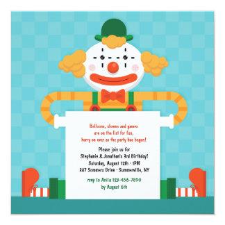 Happy Clown Invitation