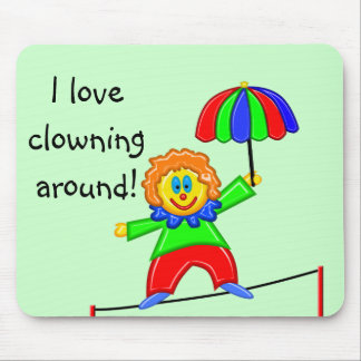 Happy Clown Mouse Pad