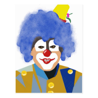 Happy Clown Postcard