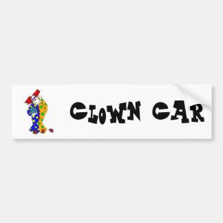 Happy clown with ball bumper sticker