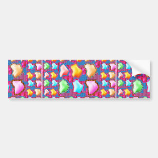 HAPPY Colorful Flower Petals Party Return+gifts 99 Bumper Sticker