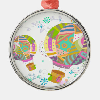 Happy Colorful Hot Air Ballon Christmas Ornament