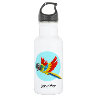 Happy colorful parrot cartoon kids 532 ml water bottle