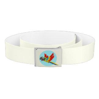 Happy colorful parrot cartoon kids belt