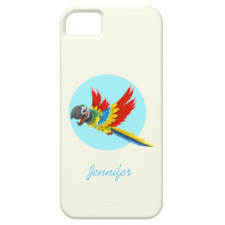 Happy colorful parrot cartoon kids iPhone 5 cover