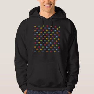 Happy colorful polka dots hooded pullover