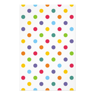 Happy colorful polka dots stationery