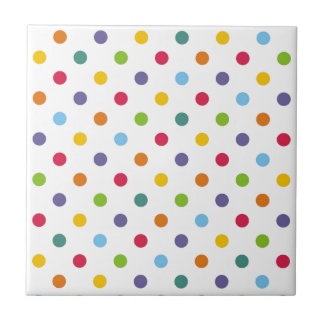 Happy colorful polka dots tile