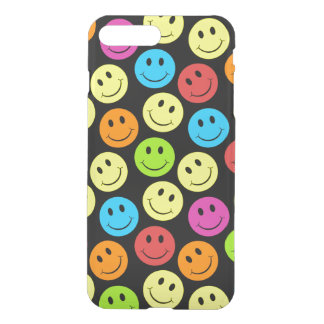 Happy Colorful Smiley Faces Pattern iPhone 7 Plus Case