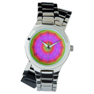 Happy Colors Silver Wrap-Around Wrist Watch