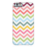 Happy Colourful Chevrons iPhone 6 case Barely There iPhone 6 Case