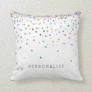 Happy Confetti Dots Cushion