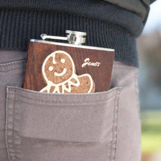Happy Cookie Man Hip Flask