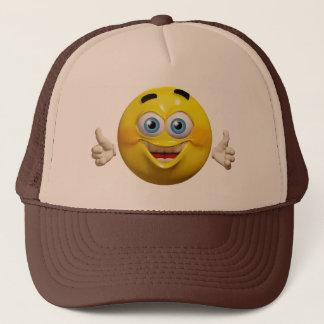 Happy cool emoticon hat