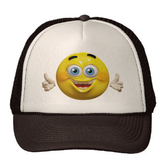 Happy cool emoticon hat