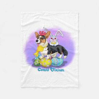 Happy Corgi Easter blanket