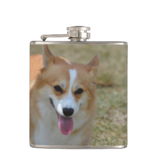 Happy Corgi Hip Flask