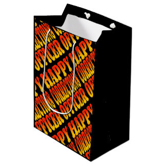 Happy Corrections Officer in Bright Colors Medium Gift Bag