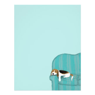 Happy Couch Dog - Cute Beagle 21.5 Cm X 28 Cm Flyer