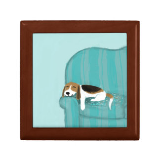 Happy Couch Dog - Cute Beagle Gift Box