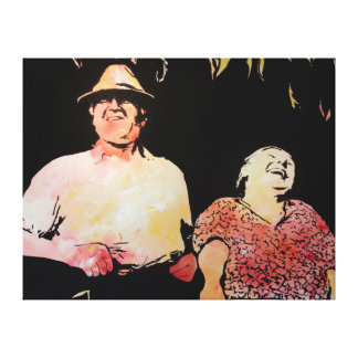 Happy Couple Gallery Wrapped Canvas