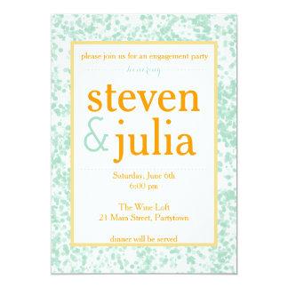 Happy Couple Engagement Party / Couples Shower 13 Cm X 18 Cm Invitation Card