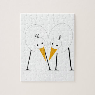 Happy couple of birds jigsaw puzzles