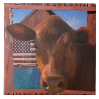 Happy Cow 2 From West Marin Tile