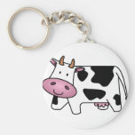Happy Cow Basic Round Button Key Ring