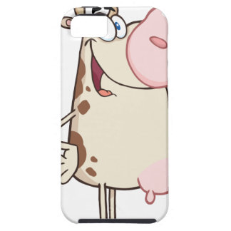 Happy Cow Cartoon Mascot iPhone 5 Cover