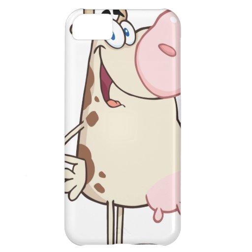Happy Cow Cartoon Mascot iPhone 5C Cover