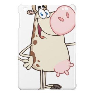 Happy Cow Cartoon Mascot iPad Mini Cases