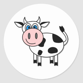 Happy Cow Classic Round Sticker