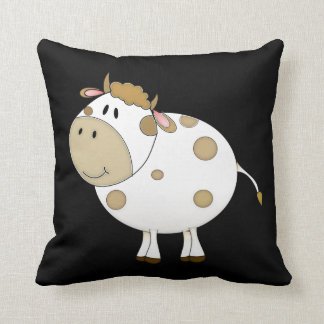 Happy Cow Throw Pillow