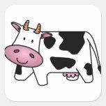 Happy Cow Square Sticker