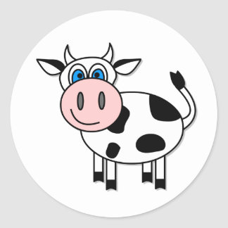 Happy Cow Sticker - Customizable!
