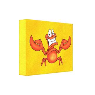 Happy Crab Canvas Prints