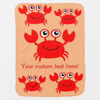 Happy Crab custom baby blanket